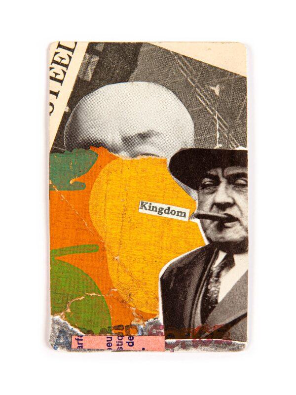 Unique contemporary collage art