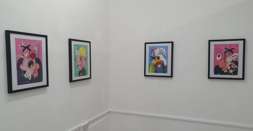 Duncan McAfee's Exploding Heads exhibition