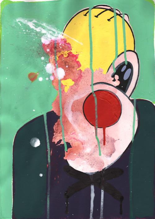 Loner Gimpton, a print by Duncan McAfee