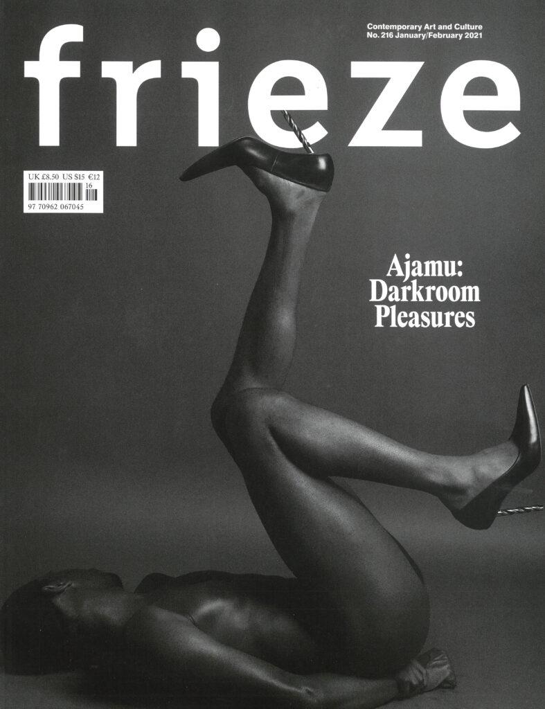 Ajamu on the cover of Frieze magazine