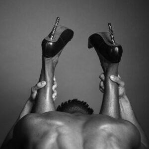 Ajamu black male body prints. Shoes 2020