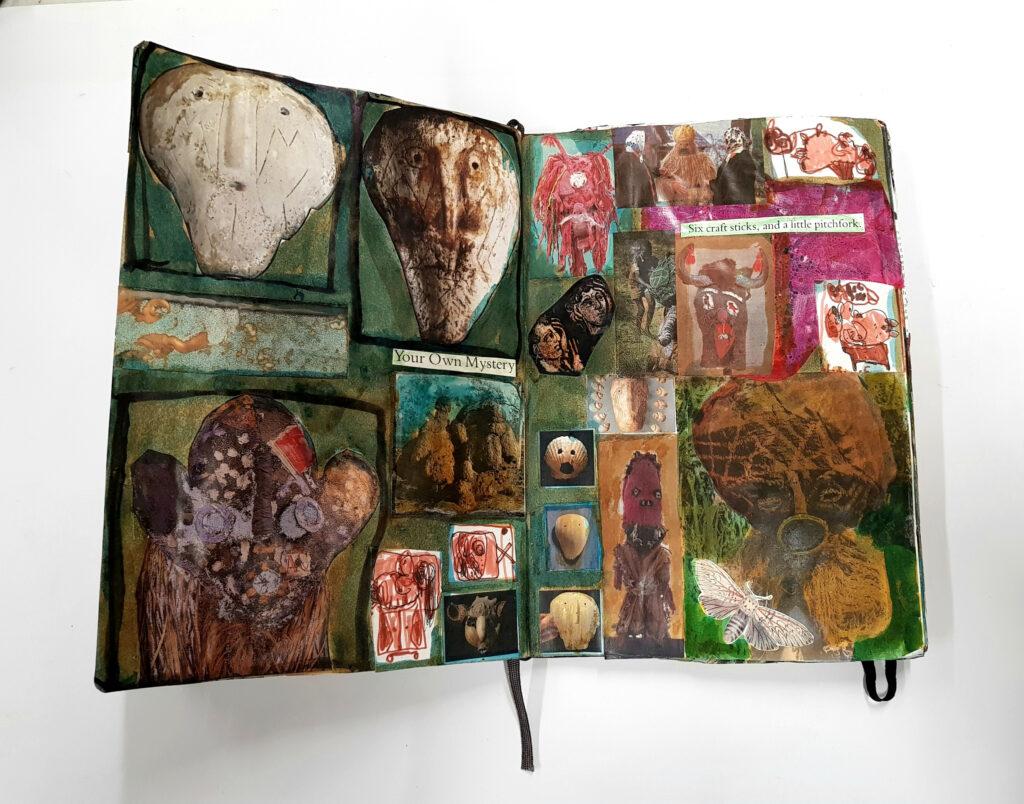 Shaun Caton collage books