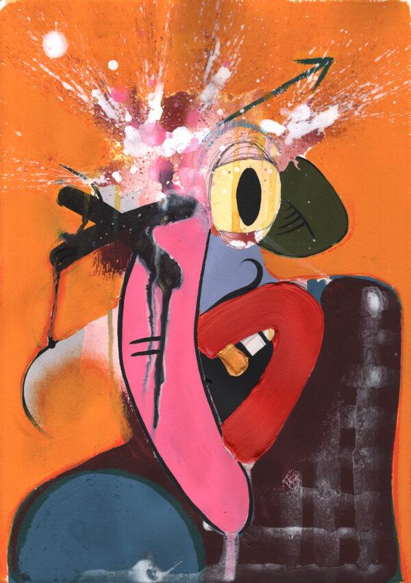 Wanger Banger Modern cartoon art prints by Duncan McAfee