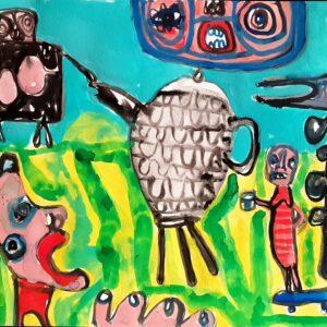 Shaun Caton gouache painting